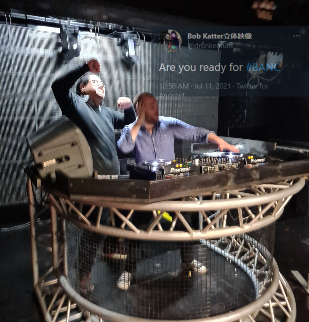 DJs Craven and March crank it up (follow @drunkenrunt)